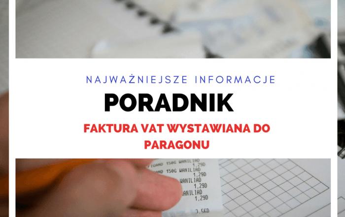 Faktura VAT do paragonu