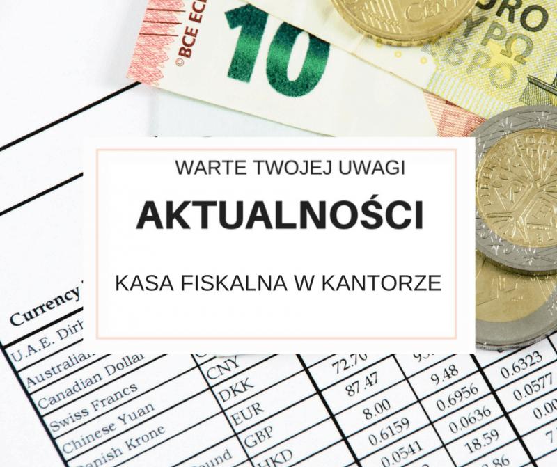 Kasa fiskalna w kantorze.