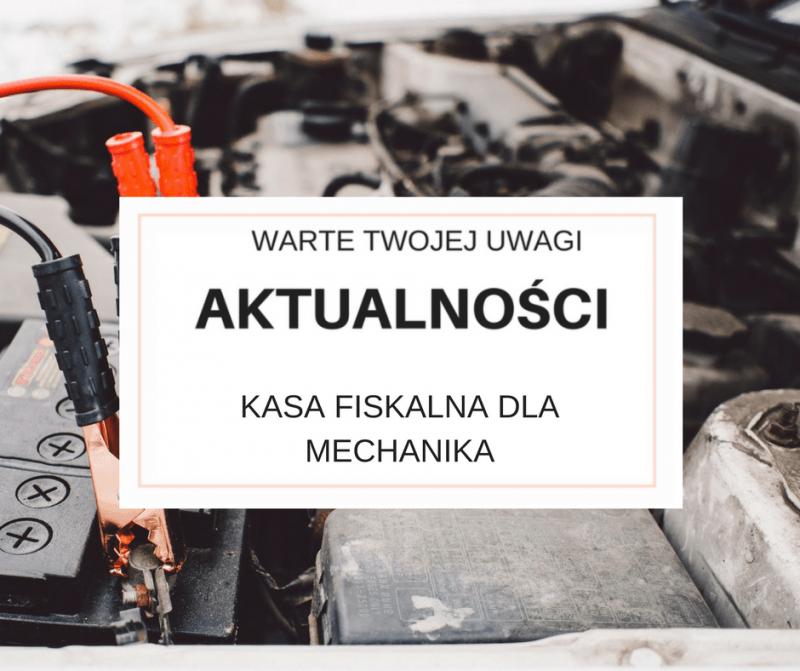 Kasa fiskalna dla mechanika