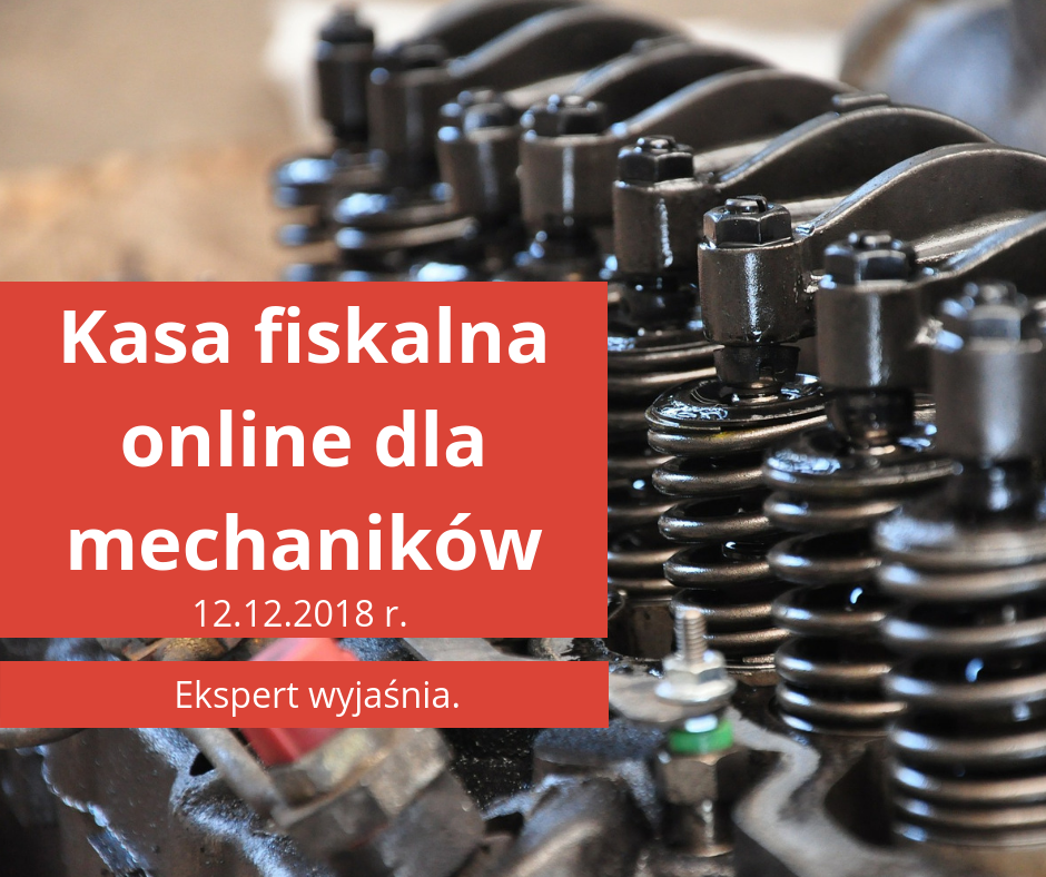 Kasa fiskalna online dla mechaników