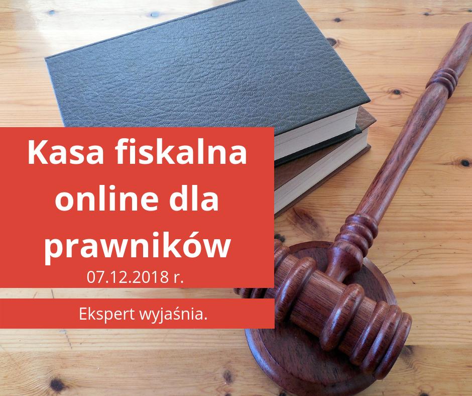 kasa fiskalna online dla prawników