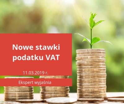 Nowe stawki podatku VAT